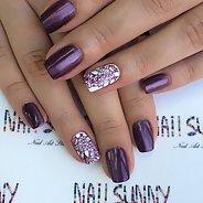 Фиолетовый маникюр #09