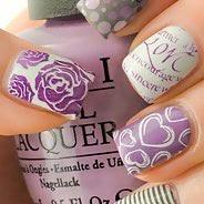 Фиолетовый маникюр #12