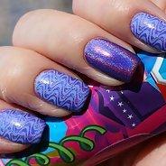 Фиолетовый маникюр #13