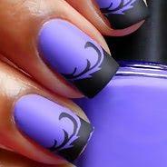 Фиолетовый маникюр #15