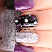Фиолетовый маникюр #16