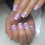 Фиолетовый маникюр #17