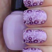 Фиолетовый маникюр #19