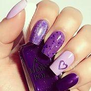 Фиолетовый маникюр #20