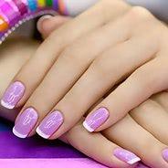 Фиолетовый маникюр #21