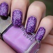 Фиолетовый маникюр #22