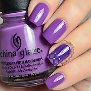 Фиолетовый маникюр #23