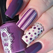 Фиолетовый маникюр #24