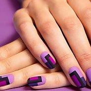 Фиолетовый маникюр #25