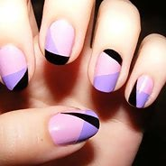 Фиолетовый маникюр #26