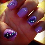 Фиолетовый маникюр #01
