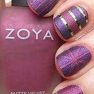 Фиолетовый маникюр #29