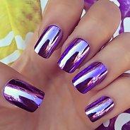 Фиолетовый маникюр #31