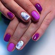 Фиолетовый маникюр #32