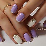 Фиолетовый маникюр #33