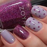 Фиолетовый маникюр #35