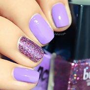 Фиолетовый маникюр #36