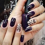 Фиолетовый маникюр #37