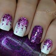 Фиолетовый маникюр #38