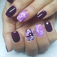 Фиолетовый маникюр #39