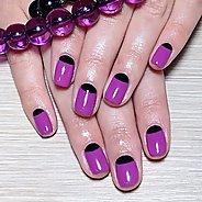 Фиолетовый маникюр #42
