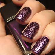 Фиолетовый маникюр #43