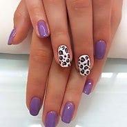 Фиолетовый маникюр #44