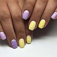 Фиолетовый маникюр #45