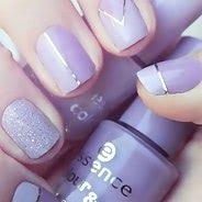Фиолетовый маникюр #05