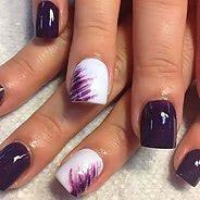 Фиолетовый маникюр #06
