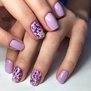 Фиолетовый маникюр #08