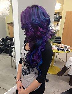 Фиолетовые волосы #19