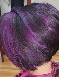 Фиолетовые волосы #02