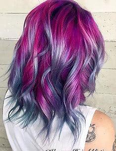 Фиолетовые волосы #48