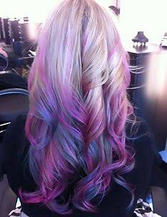 Фиолетовые волосы #69
