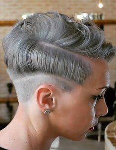 Серые волосы #24