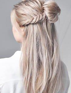 Прически на длинные тонкие волосы #10