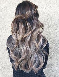 Прически на длинные тонкие волосы #21