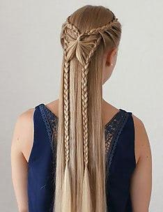 Прически на длинные тонкие волосы #27