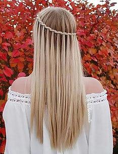 Прически на длинные тонкие волосы #28