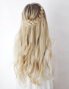 Прически на длинные тонкие волосы #01