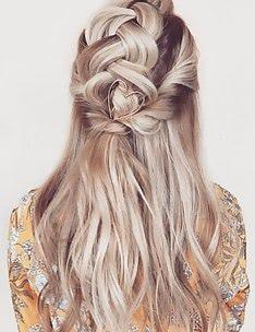 Прически на длинные тонкие волосы #31