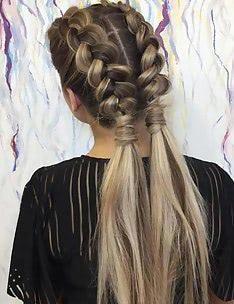 Прически на длинные тонкие волосы #33
