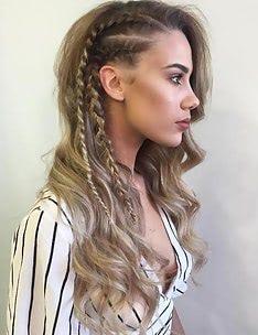 Прически на длинные тонкие волосы #34