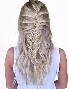 Прически на длинные тонкие волосы #40