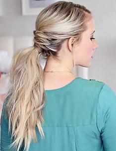 Прически на длинные тонкие волосы #41