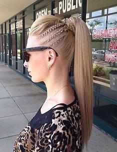 Прически на длинные тонкие волосы #45