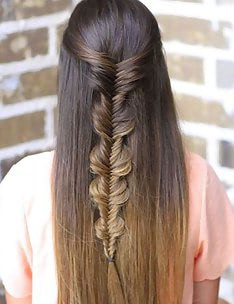 Прически на длинные тонкие волосы #46