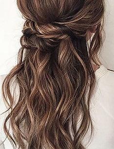 Прически на длинные тонкие волосы #47