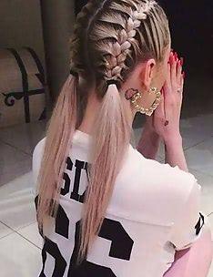 Прически на длинные тонкие волосы #49
